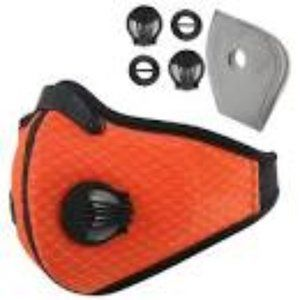 Accessories - Mens Orange Breathable Xercise Mask 2 Exhale Valve